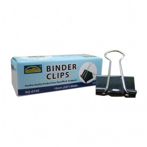 Binder Clips 15mm Box of 12 SQ-0105