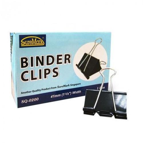 Binder Clips 41mm Box of 12 SQ-0200