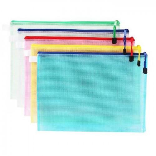 Colour Mesh Zip Bag A3