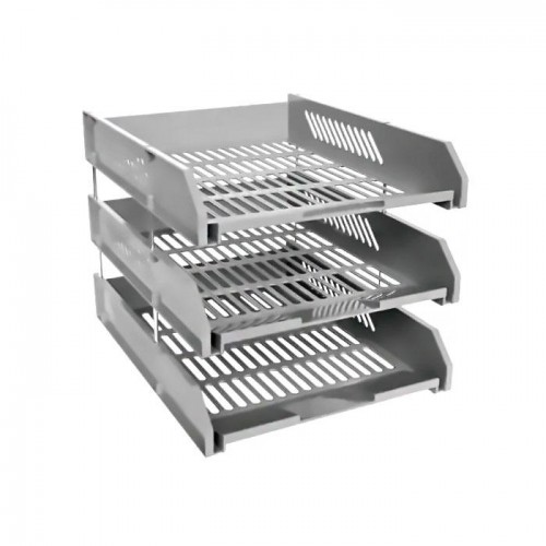3 Tier Plastic Tray with Metal Risers A4 PX-303/21123