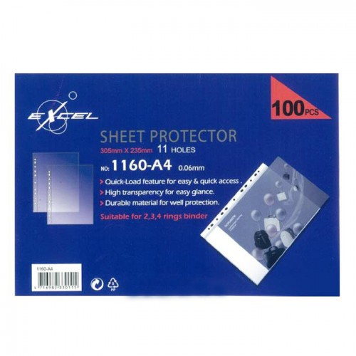 Excel 11 Hole Sheet Protectors 1160-A4