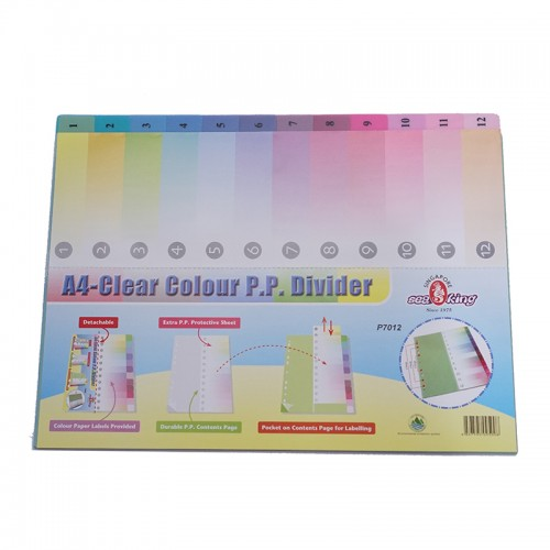 Seaking A4 PP Index 1 To 12-12PCS
